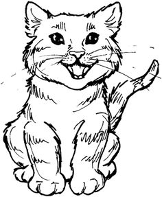 cat color pages printable printable coloring pages
