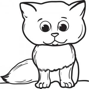 cat coloring pages for kids preschool and kindergarten