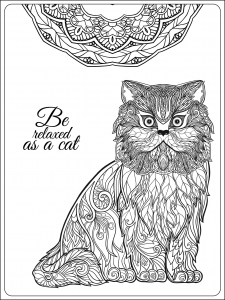 cats coloring pages for adults