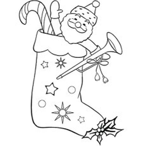 christmas stocking coloring pages part 6