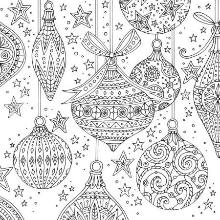 claire mcelfatrick baubles christmas adult colouring