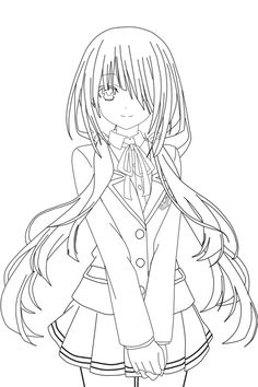 cute anime girl lineart chifuyu san on deviantart