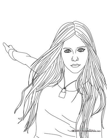 cute avril lavigne coloring page more singer coloring