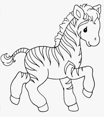 cute ba animal coloring pages zebra colorings