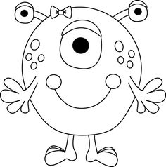 cute monster coloring pages at getcolorings free