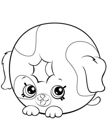 dolly donut dog shopkin coloring page free printable