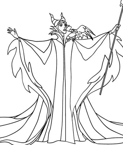 download maleficent coloring pages sleeping beauty