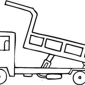 dumping dirt dump truck coloring page kids play color
