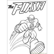 flash superheroes printable coloring pages
