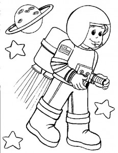 free printable astronaut coloring page crafts and