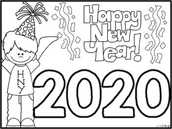 freebie happy new year coloring sheet new year