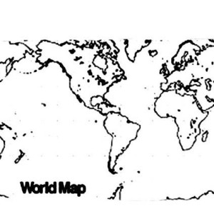 globe world map coloring page kids play color