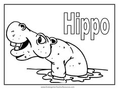 hippopotamus coloring pages cliparts and pictures cute
