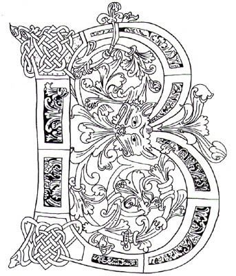 illuminated alphabet coloring pages illuminated manuscript