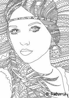 image result for adult colouring people coloring pages
