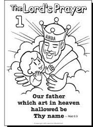 image result for the lords prayer coloring pages