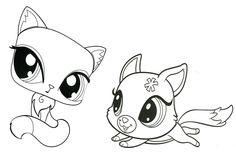 littlest pet shop dog coloring pages cute lps dog