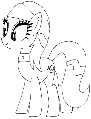 lotus blossom my little pony coloring page free