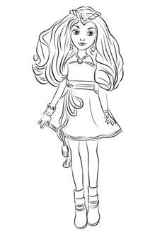 mal descendants 2 coloring page free movie coloring