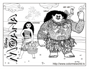 moana free printable coloring pages for kids