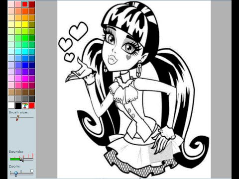 monster high coloring pages for kids monster high