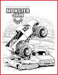 monster jam coloring pages with images monster truck