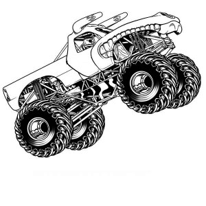 monster truck el toro loco coloring page monster truck el