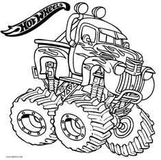 monster truck grave digger monster truck coloring page