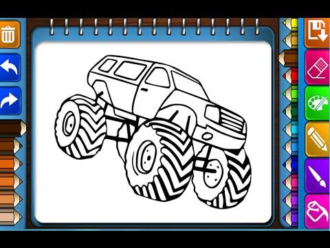 monster trucks coloring pages for kids monster trucks