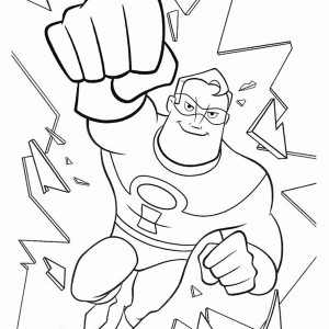 mr incredible coloring pages at getcolorings free
