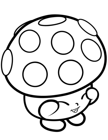 mushroom miss mushy moo shopkin coloring page free