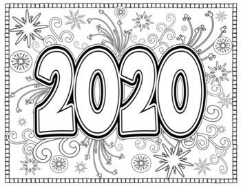 new year 2020 coloring pages for teens and adults new
