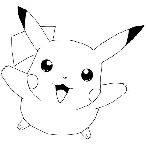 pokmon go pikachu flying coloring page picachu desenho