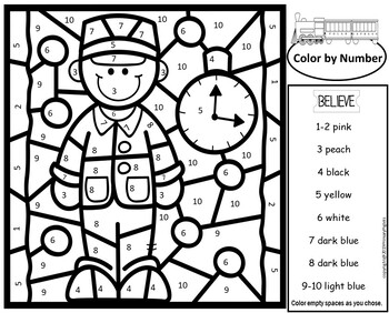 polar express activities color number multiplication