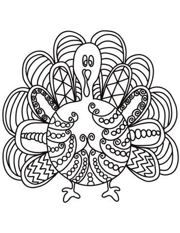 pop art turkey coloring page free printable coloring pages