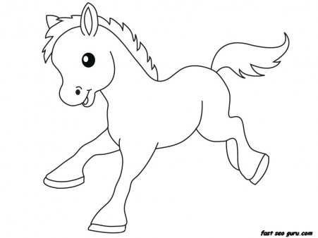 print out farm pony ba animals coloring pages free
