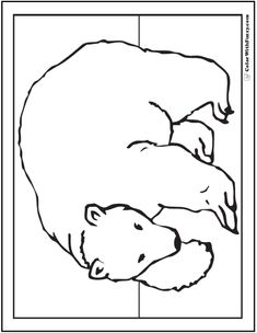 printable polar bear coloring page coloring book pages