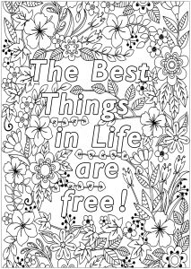quotes coloring pages for adults