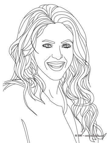 shakira coloring page more shakira content on hellokids