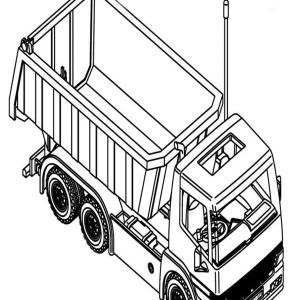 simple dump truck line art coloring page kids play color