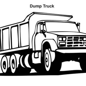 snow plow truck on dump truck coloring page kids play color