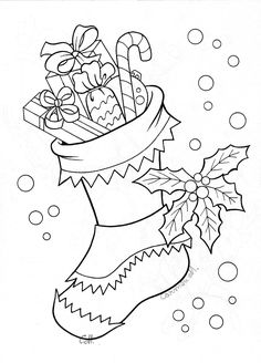 stocking 2 digistamps christmas coloring pages