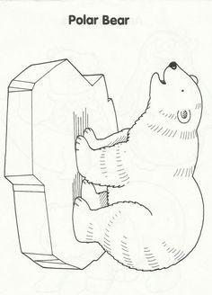 templates january ideas polar bear bear template