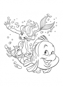 the little mermaid free printable coloring pages for kids