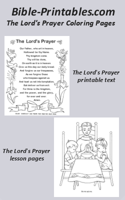 the lords prayer coloring pages bible printables