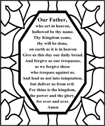 the lords prayer maybe do this with the markercontact