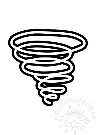 tornado cyclone symbol printable coloring page