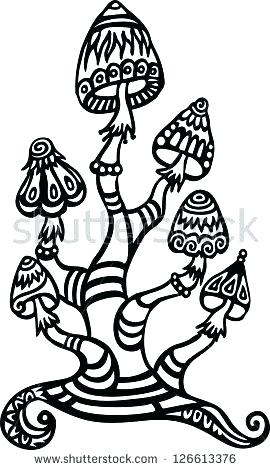 trippy mushroom drawing at getdrawings free download