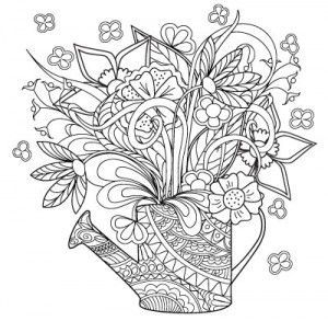 173 best coloring garden images on pinterest coloring