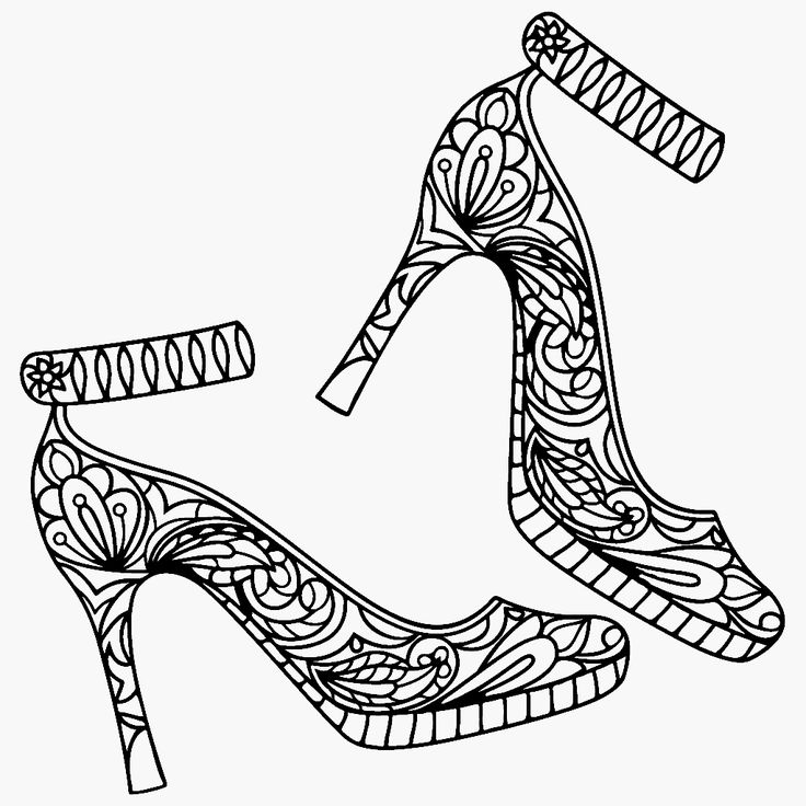209 best shoes coloring pages for adults images on